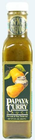 Papaya Curry Marinade and Meat Tenderizer Sauce