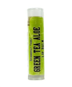 green tea aloe lip balm