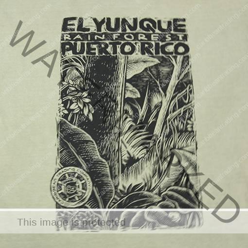 El Yunque Leaves Rainforest T-Shirt