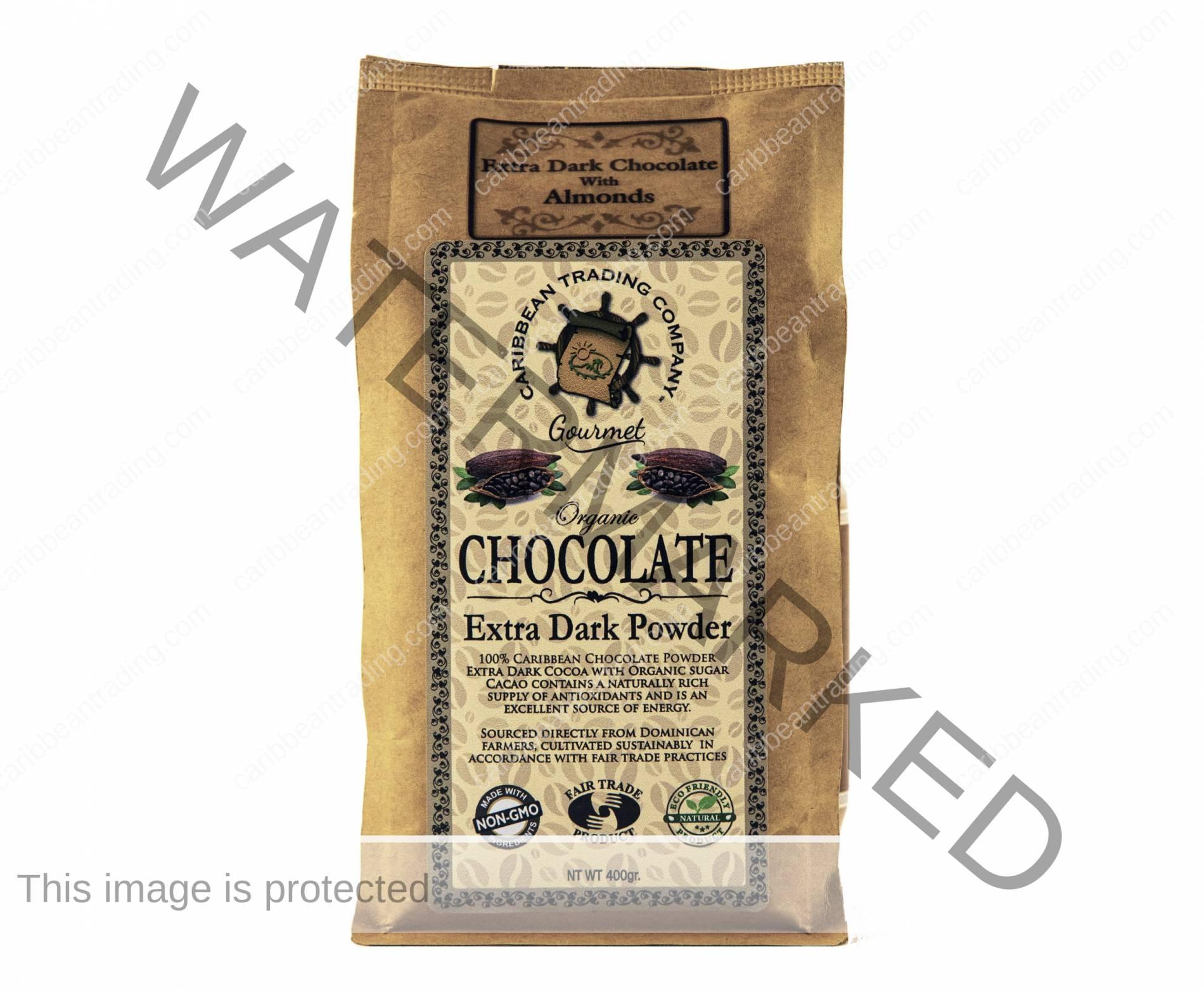 Organic Extra Dark Chocolate Powder-Almond