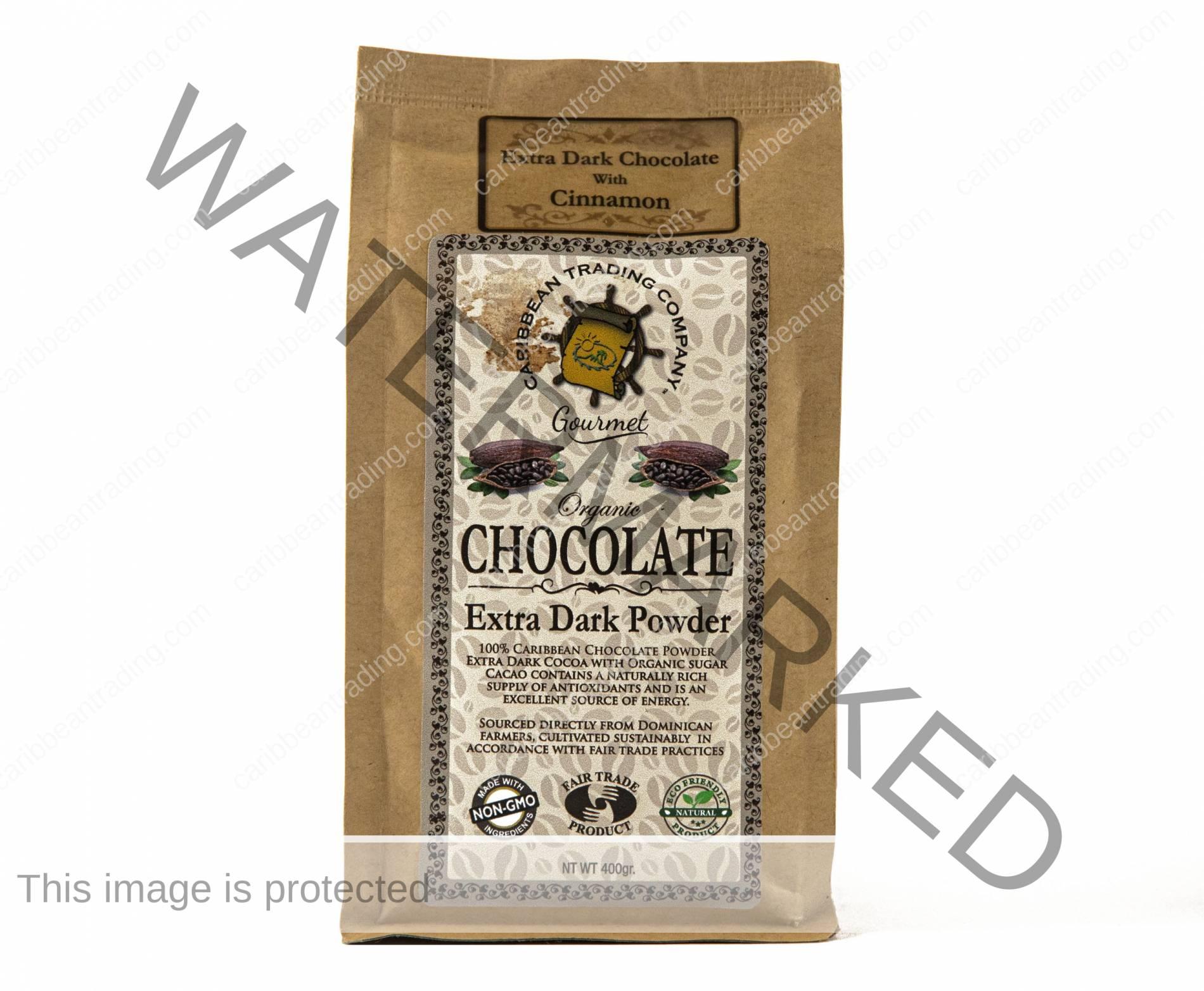 Organic Extra Dark Chocolate Powder-Cinnamon