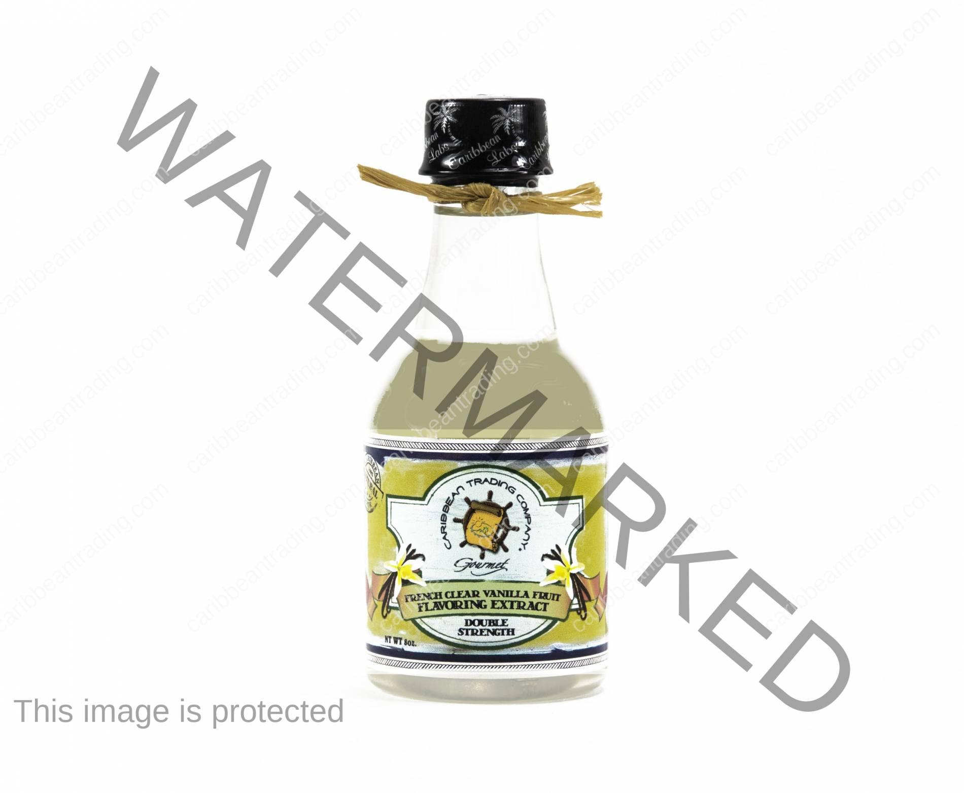 White Vanilla Extract - Double Strength - 8 oz.