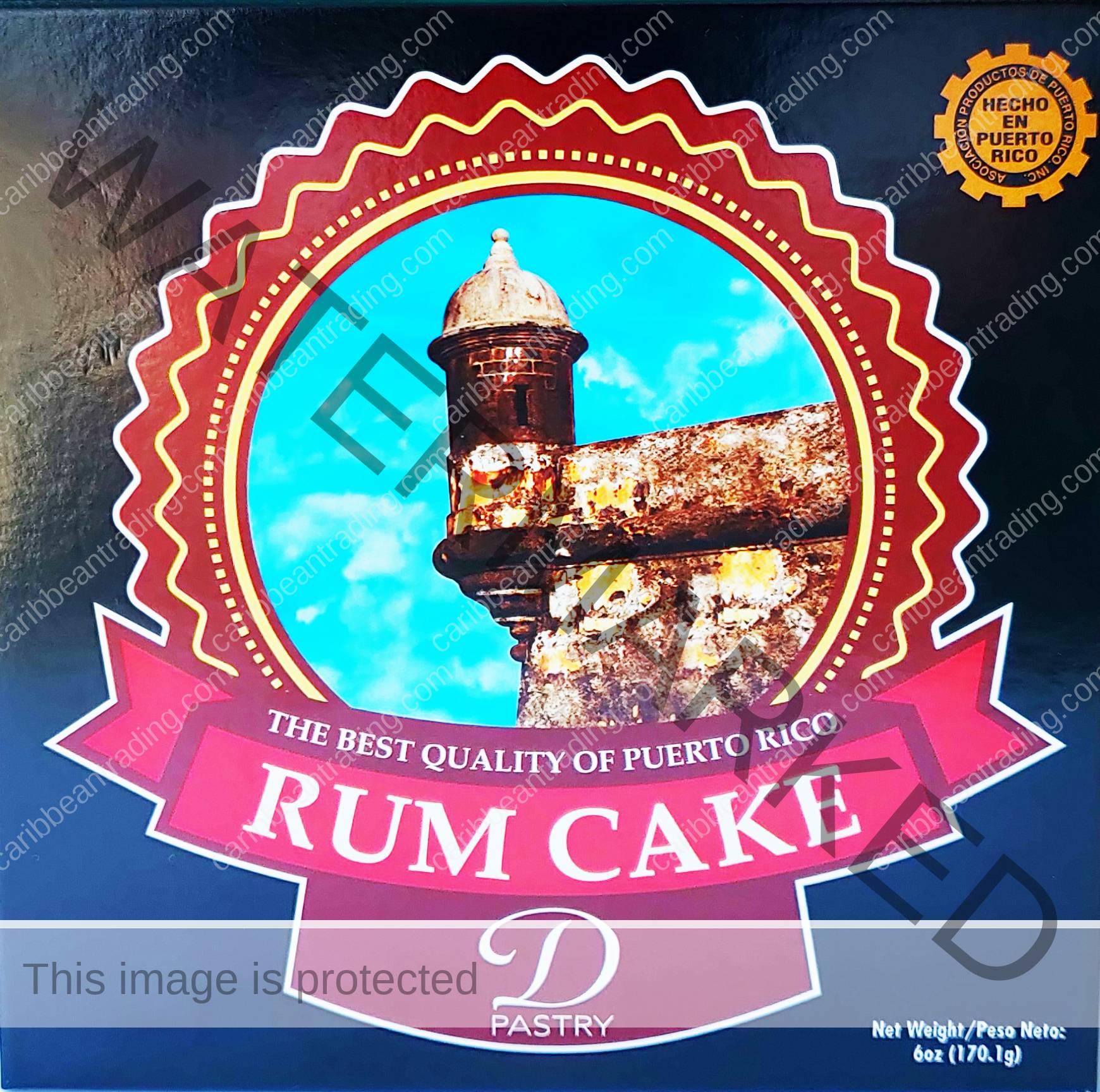 D'Pastry Puerto Rico Rum Cake 6 oz.