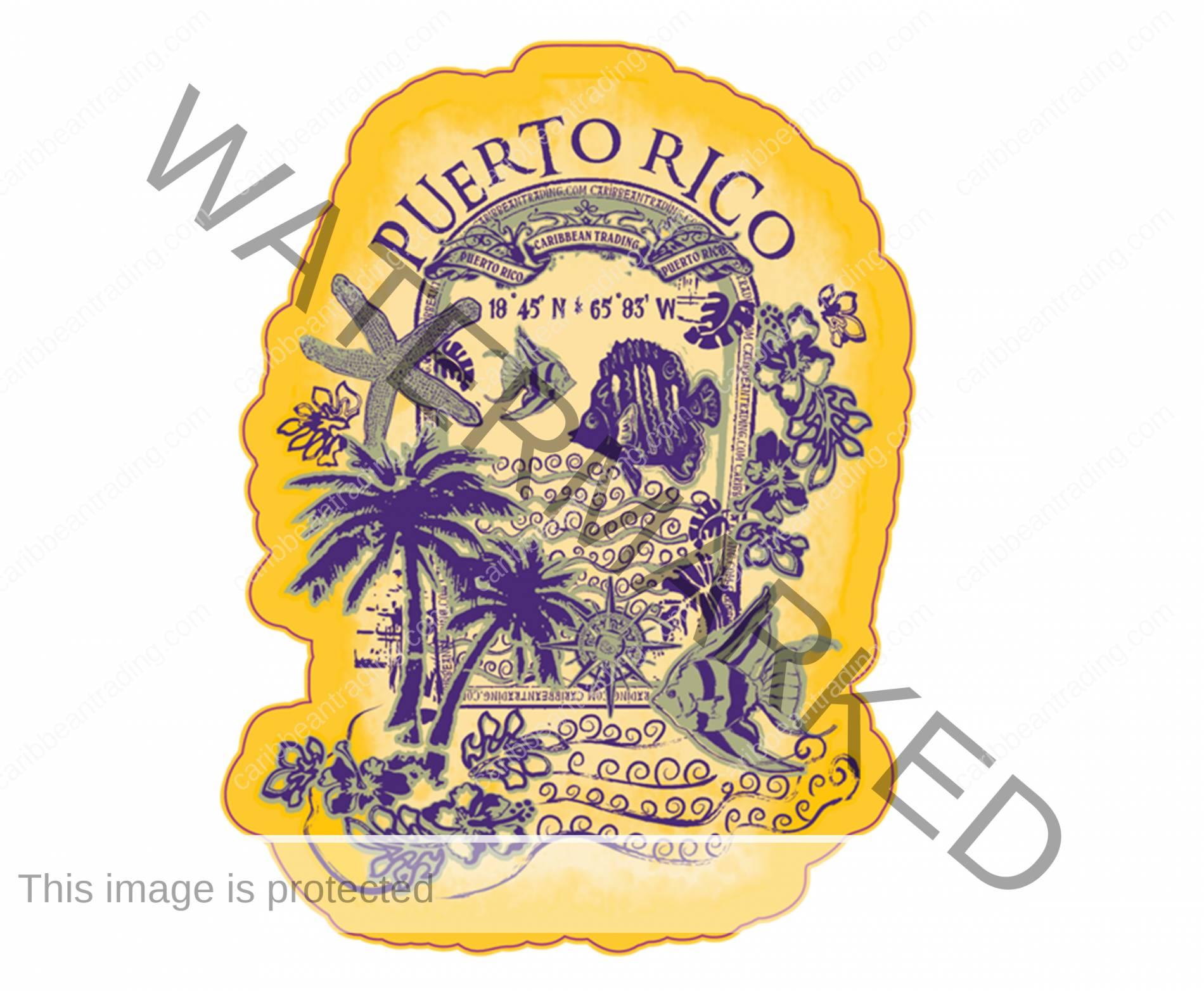 Puerto Rico Fish Sticker w/ FREE SHIPPING!