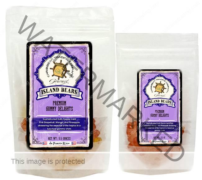 island bear gummy bears caribbean trading company