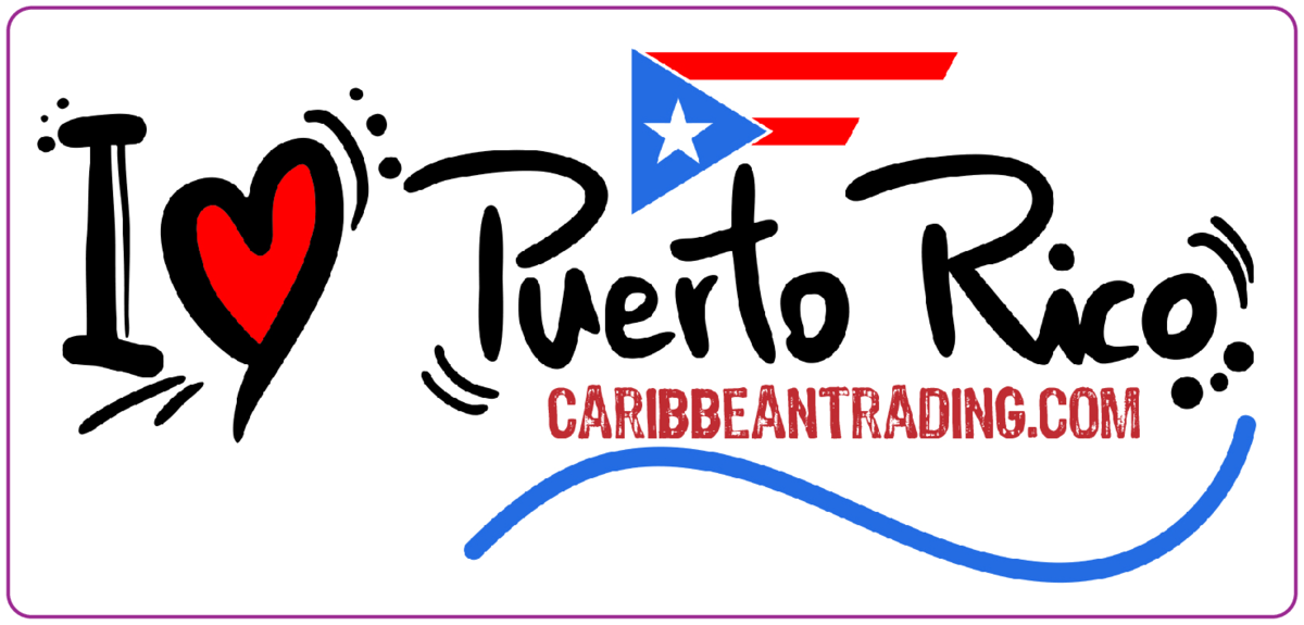 I Love Puerto Rico Sticker w/ FREE SHIPPING!