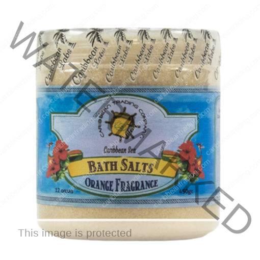 Caribbean Sea Bath Salts w/Orange 12 oz.