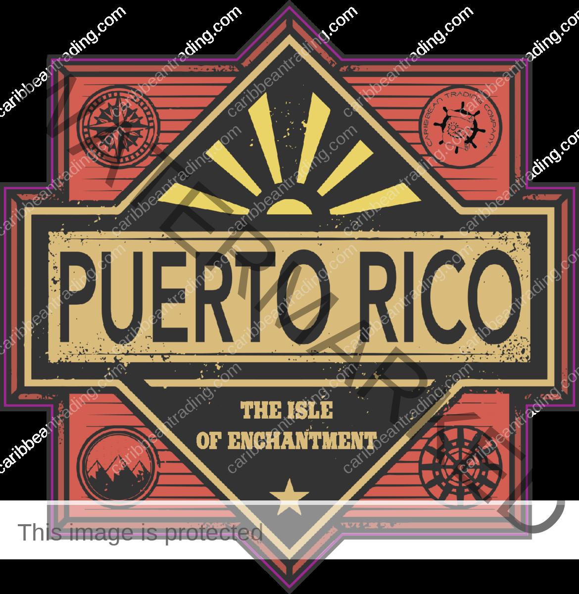 Retro Puerto Rico Sticker w/ FREE SHIPPING!