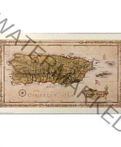 puerto rico island map