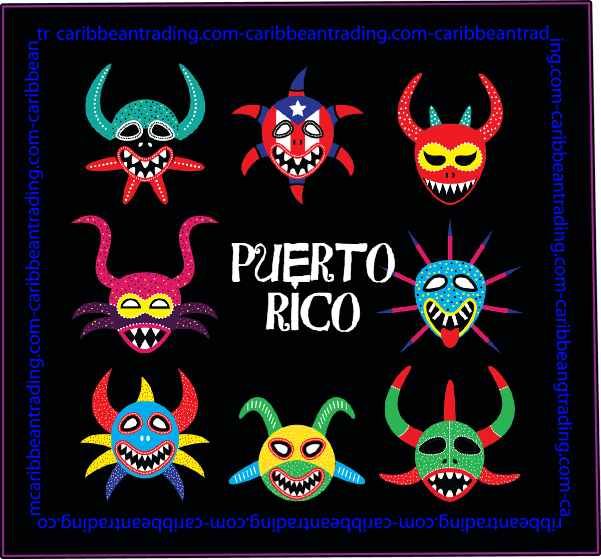 Puerto Rico Vejigante Sticker w/ FREE SHIPPING!