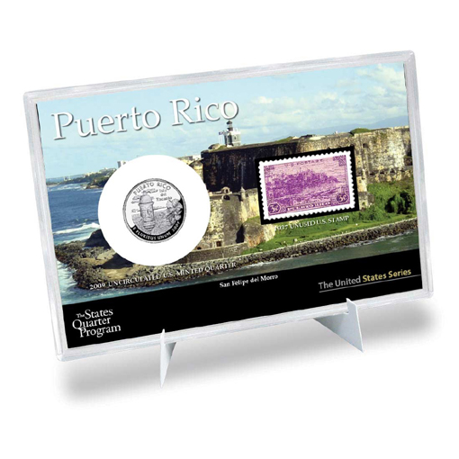 Puerto Rico Stamp and Quarter Collection