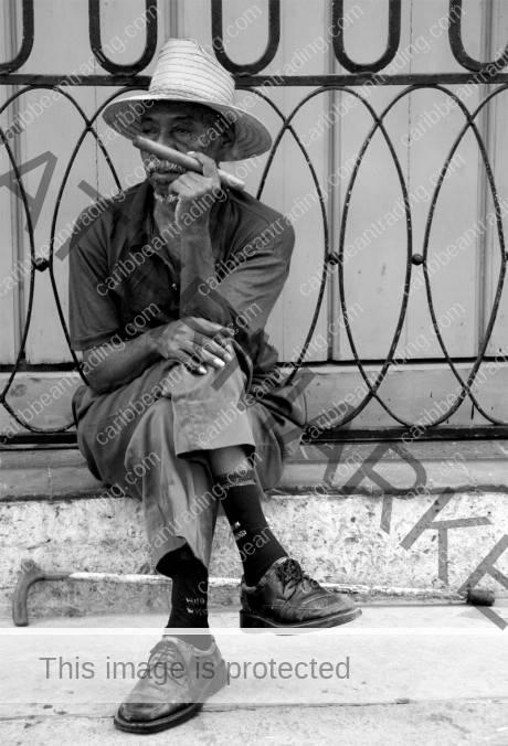 man with cuban cigar