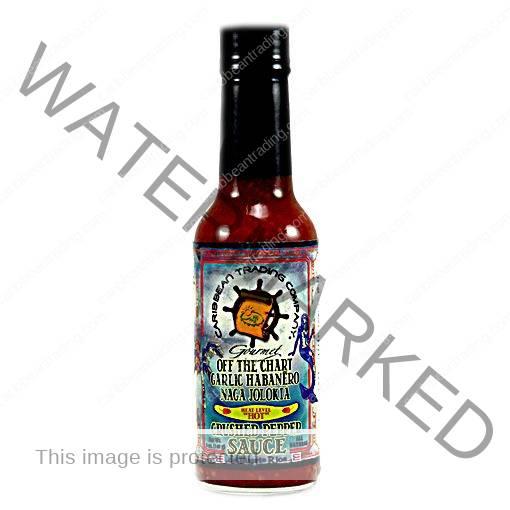 Off the Chart Garlic Habañero Naga Jolokia Crushed Pepper Sauce