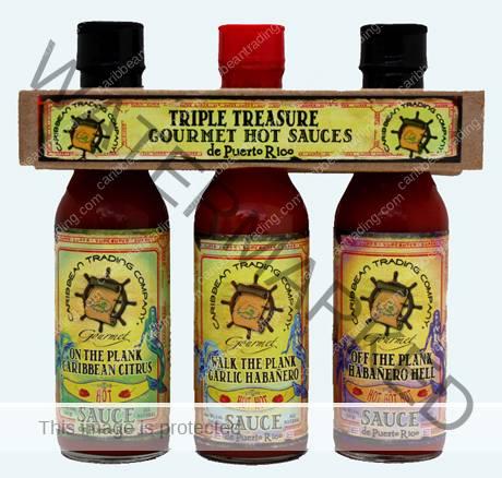Triple Treasure Gourmet Hot Sauces de Puerto Rico